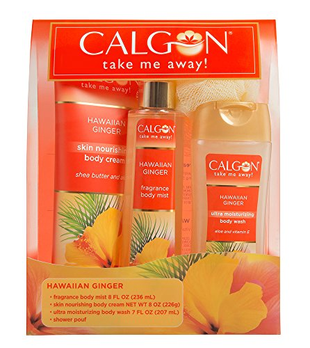 Calgon Hawaiian Ginger Body Care 4-Piece Gift Set (Hawaiin Ginger)