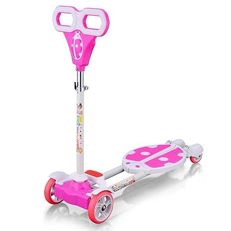 WYFDM Niños 3 Ruedas Speeder Plegable Scooter Tri Slider con ...