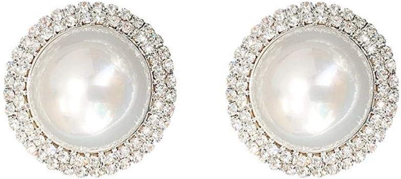 NOBRAND Pendientes de Perlas de Encanto, Hermosa Mujer de Estilo de joyería de Moda, joyería de Regalos de San Valentín. Compromiso (Color : Large Pearl Earring)