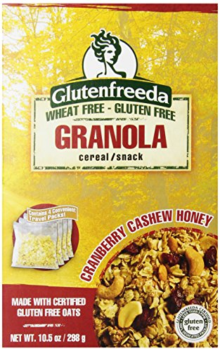Glutenfreeda's  Granola Cranberry Cashew Honey, 10.5-Ounce Boxes (Pack of 8)