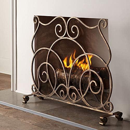暖炉 スクリーン ヨーロピアンスタイルの暖炉スクリーンシングルパネル - 安全に暖炉の暖かさ、赤ちゃんのための屋内屋外のパーティションフェンス、38.4x30.9「」