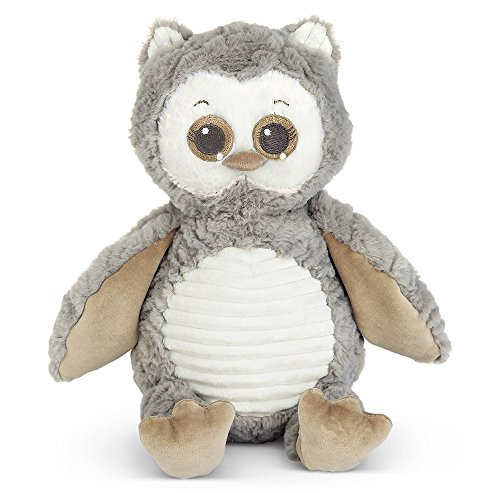 Bearington Baby Owlie Hugs-A-Lot Plush Stuffed Animal Gray Owl, 14