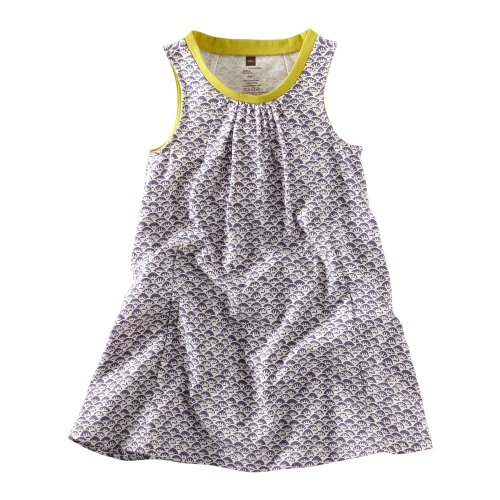 Tea Collection Baby Girls' Waves Batik Trapeze Dress, Shadow, Small