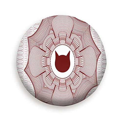 Abstract Rosette - Cool pillow Tire Cover Red Abstract Rosette Cat Face Icon Polyester Universal Spare Wheel Tire Cover Wheel Covers Jeep Trailer Rv SUV Truck Camper Travel Trailer Accessories