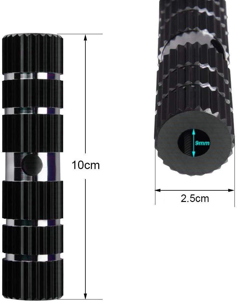 Stunt Pegs f/ür Kinder Exporee 1 Paar Fahrrad Fu/ßrasten 100 kg Traglast Erwachsene Bike Pegs f/ür Vorder-//Hinterachse mit Aluminiumlegierung Fu/ßpedal mit Gewinde BMX Schwarz Mountainbike