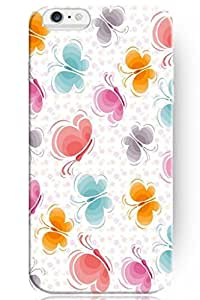 fashion case New Beautiful Clear Design Personalized Hard Lovely Colorful Butterfly for iPhone 5s (5s.7 Inches) Case