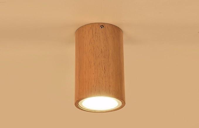 Ciondolo luce led soffitto piatto in legno soffitto parete