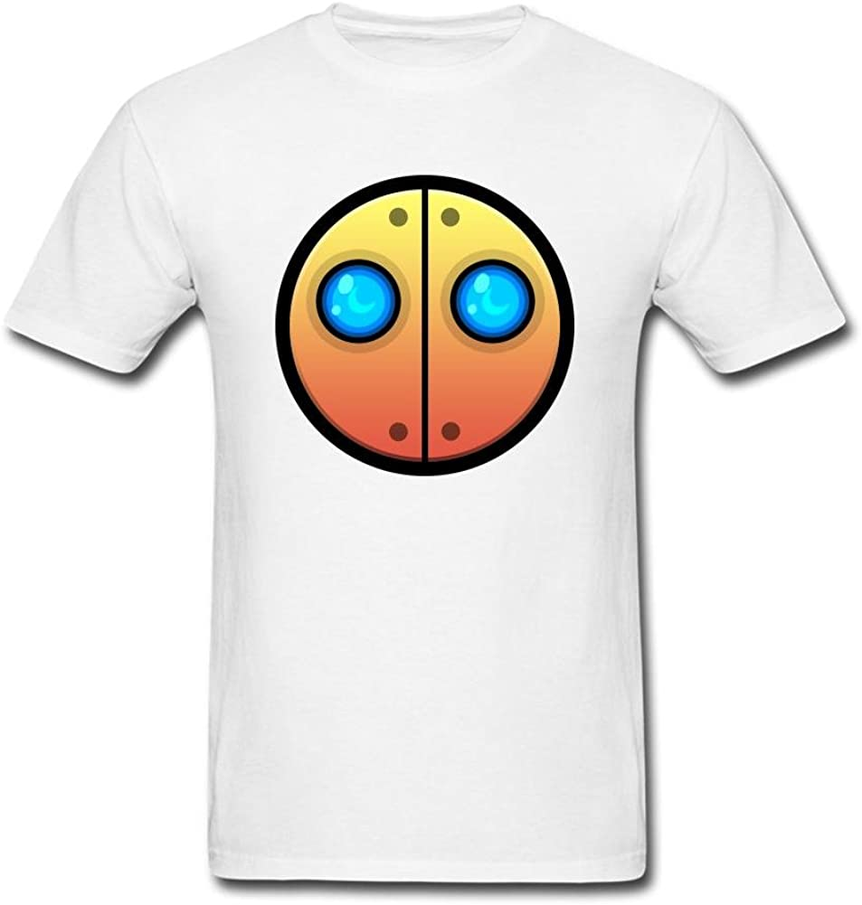 SLJD Men's Auto Geometry Dash Icon Emoji Design T Shirt