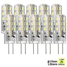 Sunix® 10pcs High Power G4 1.5W 24 SMD 3014 LED Silicone Spotlight Bulb Lamp Pure White SU022