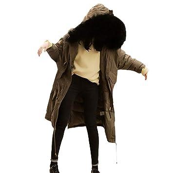 LILICAT® Mujeres Prendas de Abrigo Piel con Capucha Espesar Abrigo Largo Algodón Acolchado Chaquetas Abrigos