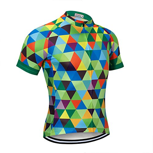 NASHRIO Men's Cycling Jersey Short Sleeve Road Bike Biking Shirt Tops Bicycle Clothes - Breathable and Quick-Dry with 3 Pockets