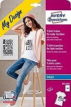 Avery MD1002 - Papel decorativo para ropas