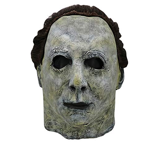 Insaneness Halloween Scary Mask Cosplay Michael Myers Melting Face Overhead Latex Costume Prop Toy (A) for $<!--$18.99-->