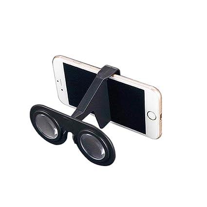 Unicoco Mini Gafas de Realidad Virtual Plegable de Las Gafas 3D VR ...