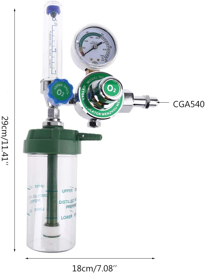 CGA 540 0xygen Regulator Pressure Reducing Valve with Nasal Tube Mcsibobce 0xygen Inhaler