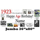 1923 95th Birthday Jumbo Personalized Banner by Partypro