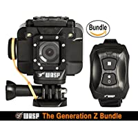 WASPcam 9905 WiFi Action-Sports Camera, Black (The Generation Z Bundle)