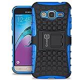 Samsung Galaxy Express Prime Case, Galaxy Sky Case, Galaxy Amp Prime Case, CoverON [Atomic Series] Hybrid Armor Cover Tough Hard Kickstand Phone Case for Samsung Galaxy Express Prime - Blue