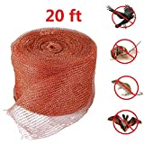 Copper Mesh Pest Control,Mouse,Rat,Rodent,Snail,Birds,Bat Control,Mesh Scrubber,Fill Fabric DIY,Gun Barrels Clean,20 Feet(6 Meter),Pure Copper