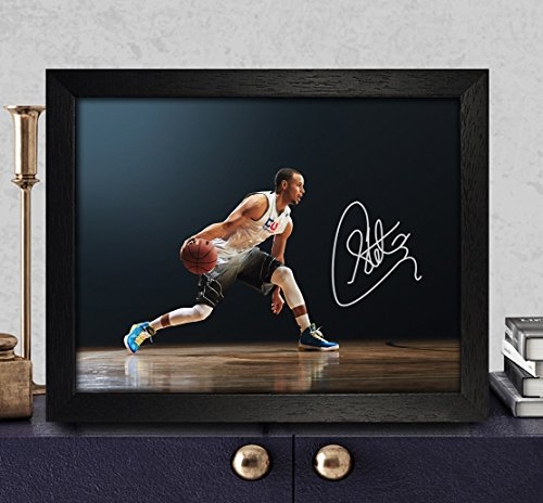 Stephen Curry Signed Autographed Photo Reprint Rp Pp - Golden State Warriors
