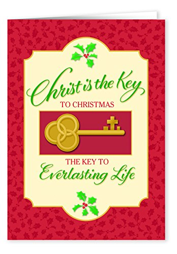 WalterDrake The Key to Christmas Card Set of 20 (Red Door Revealed compare prices)