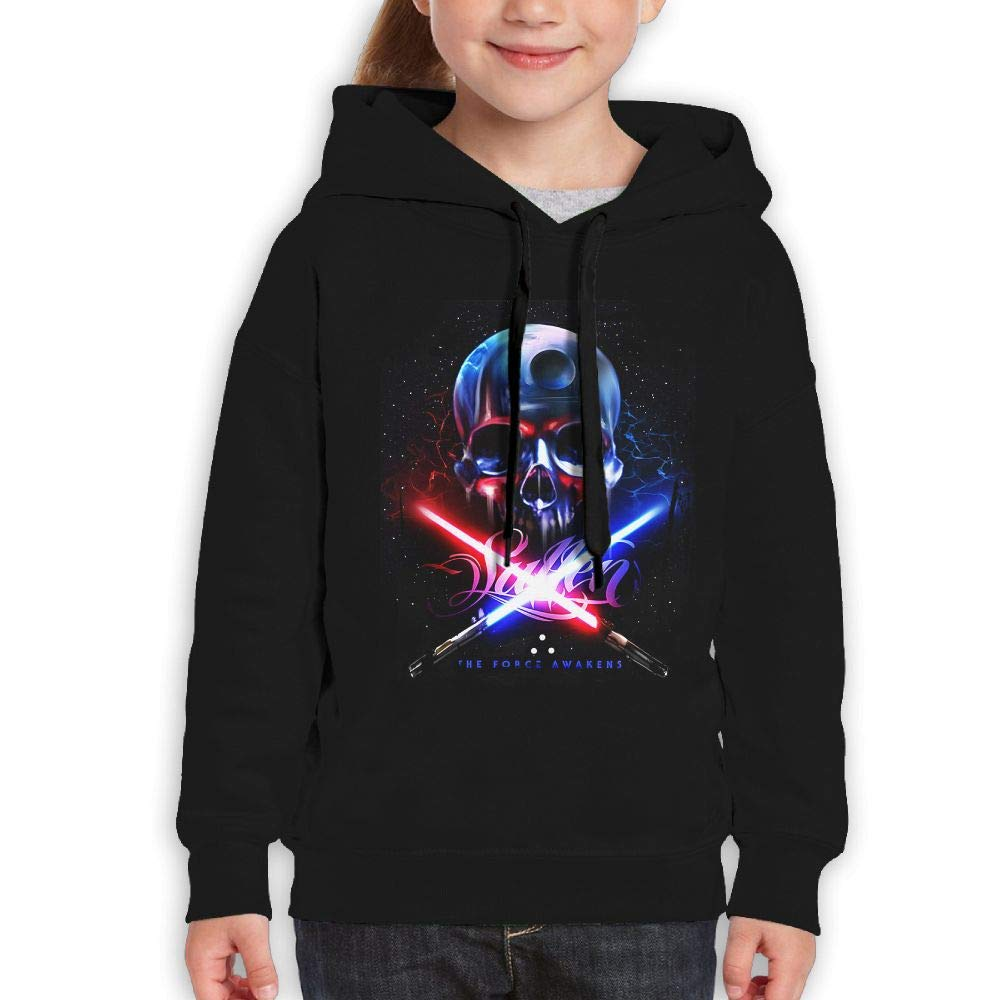Guiping Sullen Force Badge Youth Pullover Hooded Sweatshirt Black L