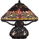Quoizel TF1851TIB 2-Light Tiffany Table Lamp - Small - Imperial Bronze