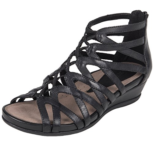 Earth Womens Juno Black Soft Leather Sandal - 10 by Earth
