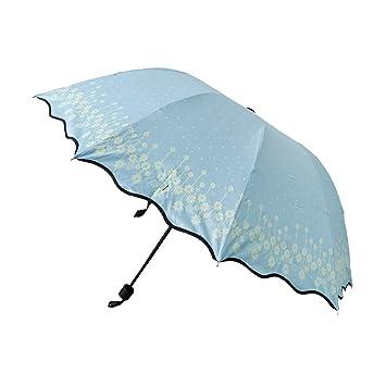 Sharplace Sombrilla de Mujer Protección Solar UV Paraguas a Prueba de Viento Plegable para Viaje Actividad