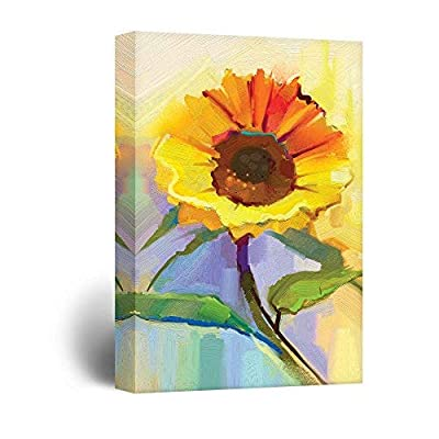 Oil Painting Style Sunflower, Premium Product, Stunning Portrait