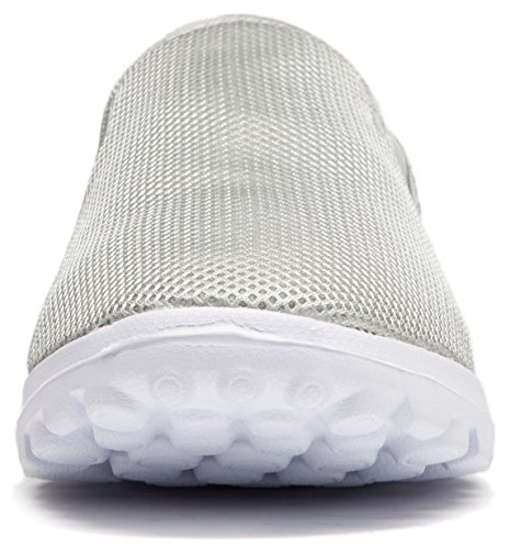 Venustus Men's Breathable Mesh Lightweight Slip On Boat Loafers Outdoor Fashion Casual Walking Shoes Grey 5ZzVpDNVl