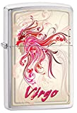 Zippo Personalized Customize Message Engraving on Backside Horoscope Zodiac Sign Lighter (Virgo)