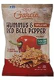 Tortilla Chips; Hummus & Red Bell Pepper