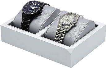 Caja De Reloj Estuche, Reloj Soporte De Exhibición, Reloj Caja De Almacenamiento con Terciopelo Reloj Almohada, Titular De Reloj (Color : White): Amazon.es: Relojes