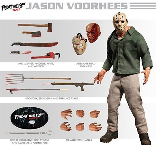 Jason Part 12 (Action Figure Friday the 13th Part 3 Jason Voorhees One:12)