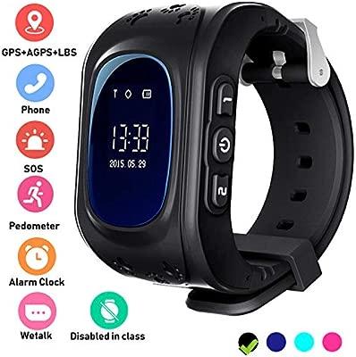 Reloj con Localizador GPS y llamadas para Niños - Smartwatch Apoyo a La Conversación de Dos Vías Chat de voz SOS Watches Anti-apagado Perder Regalo de ...