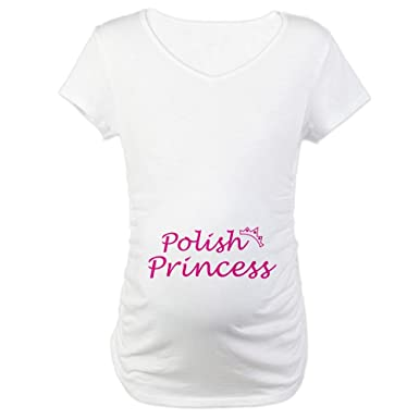 bdbafe6a550d4 CafePress Polish Princess Maternity T-Shirt Cotton Maternity T-shirt, Cute  & Funny