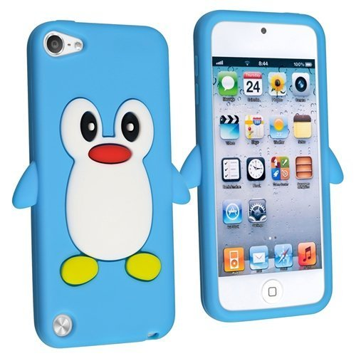 - Tsmine Penguin Cartoon Case for Apple iPod Touch 5th Generation - Cute 3D Penguin Soft Silicone Back Washable Cover Case Protective Skin for iPod Touch 5/6 5th/6th Gen, Baby Blue