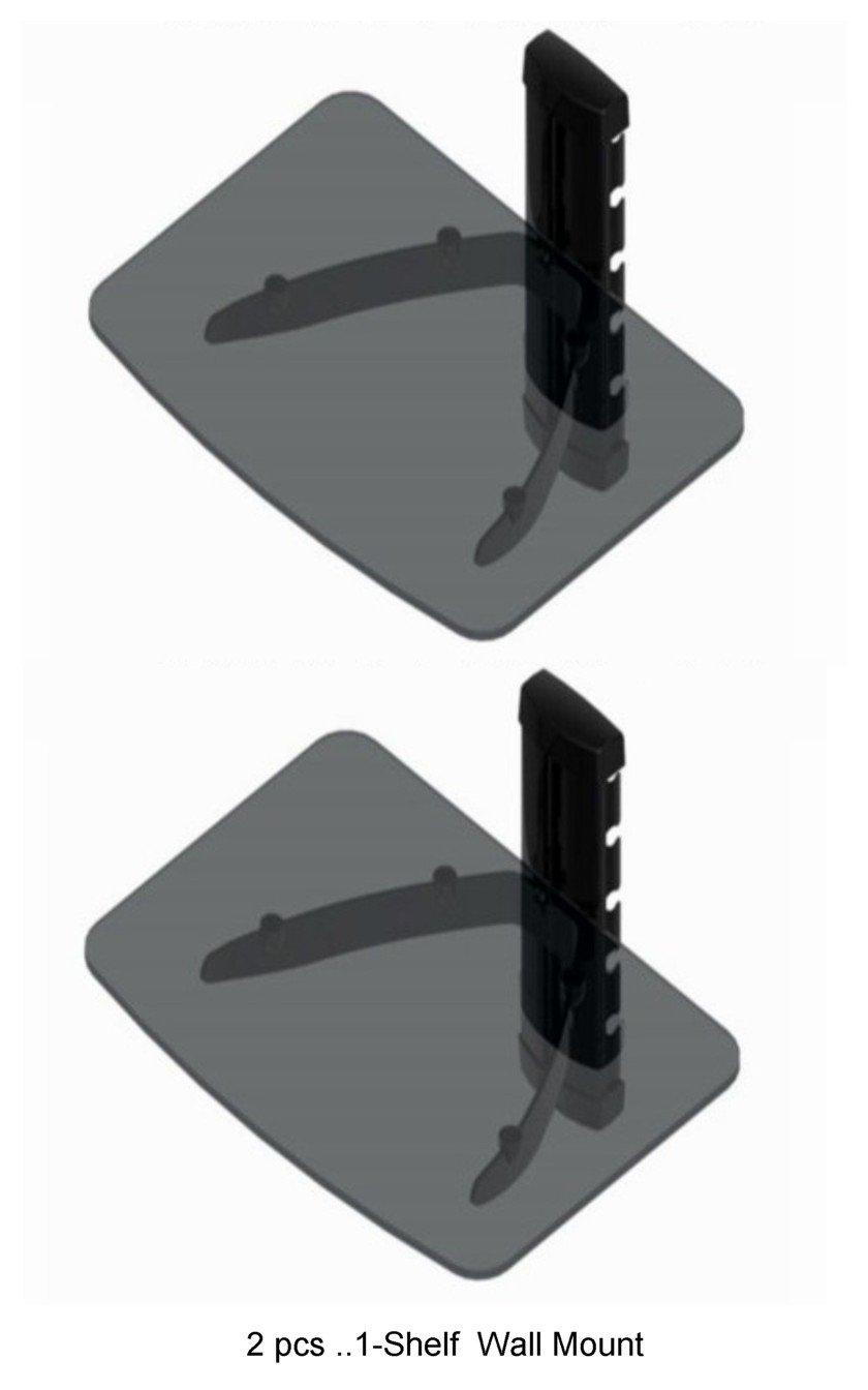 Amazon 2 pcs wall mount shelf for direct tv box dvd player amazon 2 pcs wall mount shelf for direct tv box dvd player dvr cable box blu ray player x box electronics amipublicfo Choice Image