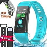 IP67 Fitness Tracker Smart Watch Heart Rate Blood Pressure Monitor Color Screen Activity Tracker Smart Wristband Sleep Monitor Calorie Counter Pedometer 4 Sports Mode Swim Run Kids Women Men