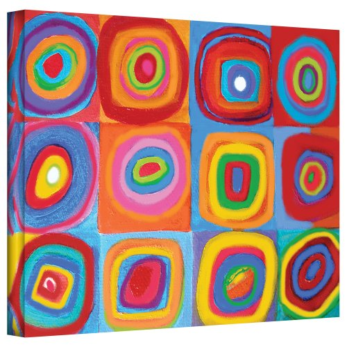 Art Wall 'Interpretation of Farbstudie Quadrate by Wassily Kandinksy' by Susi Franco Gallery Wrapped Canvas Artwork, 36 by - Stores In Warwick Ri
