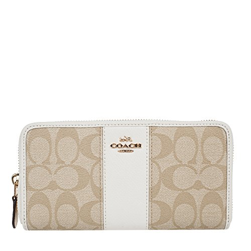 Coach Signature Leather Accordian Wallet