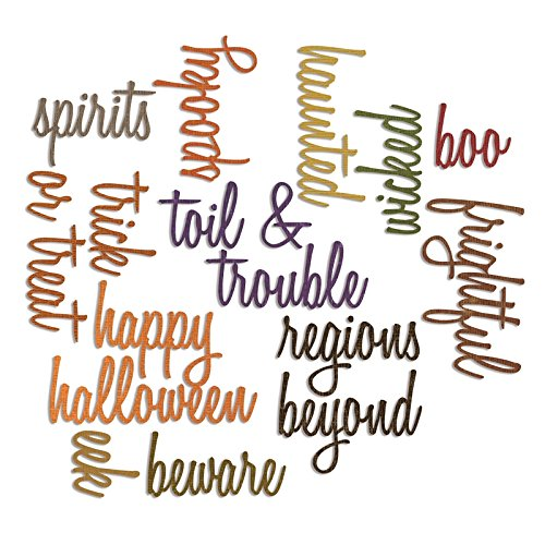 Sizzix Thinlits Dies Halloween Words Script (The Words Halloween)