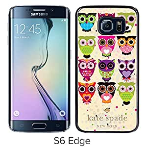 New Beautiful And Durable Custom Designed Kate Spade Cover Case For Samsung Galaxy S6 Edge Black Phone Case 242