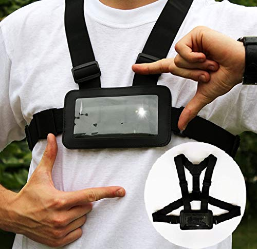 - Use Your Mobile Phone as Action Camera Body Chest Mount Harness Strap Mobile Phone Holder Used for Action Sports (Samsung, iPhone Etc)
