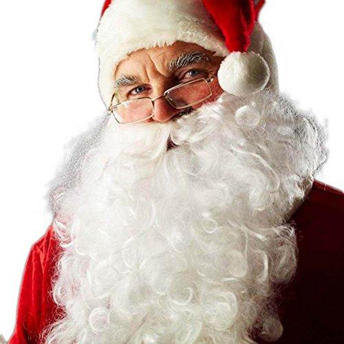 [Jlong Christmas Santa Claus Moustache Beard Christmas Fancy Dress Costume Party Accessory] (Easy Homemade Christmas Tree Costumes)