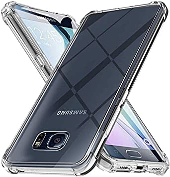 Funda para Samsung Galaxy S6 Edge Carcasa, Silicona Transparente Protector Suave TPU Tecnología de amortiguación de Aire Ultra-Delgado Anti Caídas Case para Samsung Galaxy S6 Edge Caso Caja: Amazon.es: Electrónica