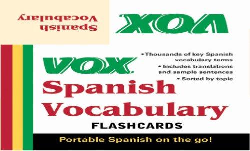VOX Spanish Vocabulary Flashcards (Spanish Edition)