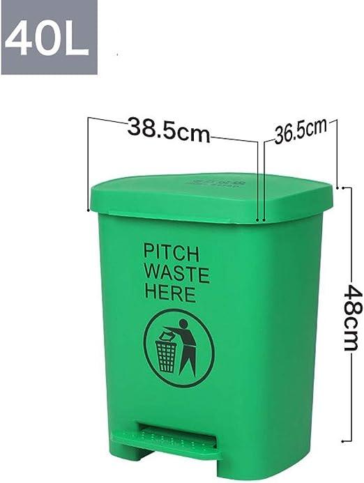 Alf Papelera de Exterior Cubo de Basura Cubo de Basura al Aire Libre Cubo de Basura reciclable 15L / 40L Contenedores de Basura de jardín (Color : Green, Size : 40L): Amazon.es: Hogar