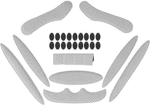 Himetsuya Helm Foam Pads Magic Stick 1 Set antibotsing Voering Sponge Bescherming met Viscose Universele Helmen Vervanging Pads voor Fiets Elektrische Motorfiets Grijs